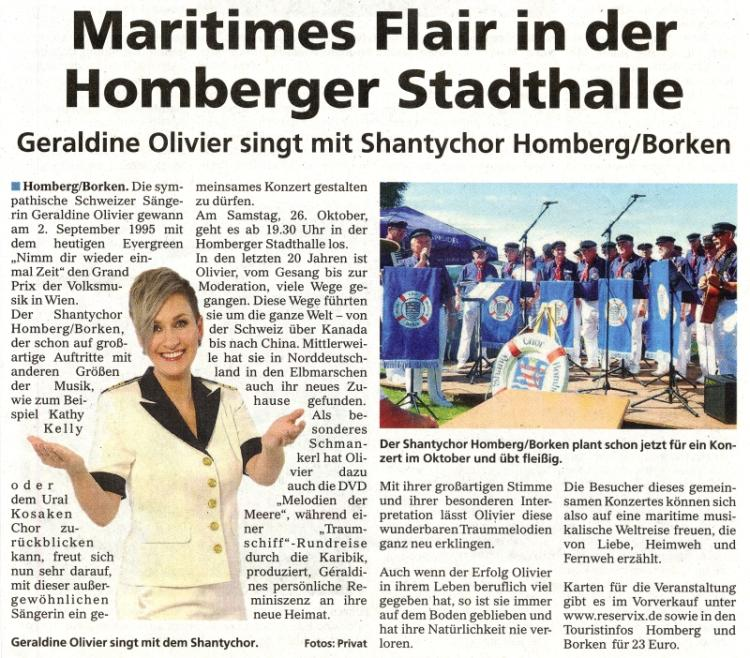 Maritimes Flair in der Homberger Stadthalle